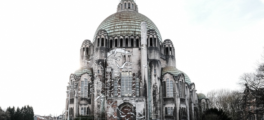 """Basilika """"Sacré Coeur et Notre Dame de Lourdes"""" in Lüttich (Liège) Cointe"""